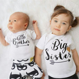 64b5b5af8 Hot Family Matching Outfits Baby Boys Romper Little Boy Romper Jumpsuit  Bodysuit Big Sister T-shirt Summer Kids Clothing Cotton Baby Clothes