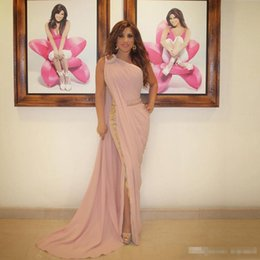 5ccfdceeb8e One piece dress up online shopping - Cheap One Shoulder Blush Pink Formal  Prom Dresses Sexy