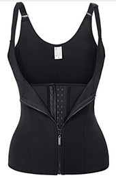 Black xl neoprene online shopping - 1 Pc New Neoprene Sauna Vest Body Shaper Slimming Waist Trainer Hot Shaper Summer Workout Shapewear Adjustable Sweat Belt Corset Black