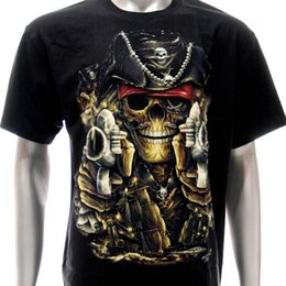 Fresco Del Tatuaje De Camisetas Baratos-G11 Rock Chang camiseta tatuaje cráneo resplandor en Dark Pirate Evil Warrior Cool diseño ropa Tops moda Hipster Top camiseta