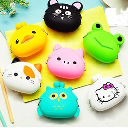 Silicone Wallets Canada - NEW MINI women wallets fashion women messenger bags silicone coin purse baby toys children gift free ship