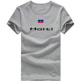 $enCountryForm.capitalKeyWord Canada - Haiti T shirt Outdoor sport short sleeve Sea beach tees Nation flag clothing Unisex cotton Tshirt