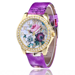 Diamond Bracelet Digital Watch Canada - Europe and the United States The new fashion bracelets table sell like hot Hot style diamond watches rose Fashion digital belt ladies watch