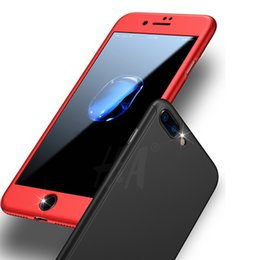 H Case Australia - H&A 360 Degree Protection Black case For iPhone 7 7 Plus Cover For iphone 6 6s Cases Full Cover Slim + Screen Protector Glass