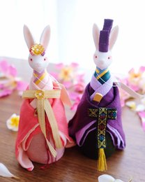$enCountryForm.capitalKeyWord Canada - The Japanese kimono rabbit music box music box and a wedding gift wedding gift wind ornaments on the bedside dolls