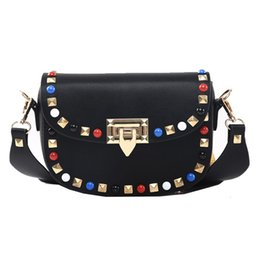NEW HOT 2018 Fashion Rivet Mini PU Leather Crossbody Bags For Women s  Famous Designer Handbags Ladies Shoulder Bags abf4062f7d538
