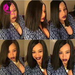 $enCountryForm.capitalKeyWord NZ - Cheap U Part Short Hair Wigs Human Hair Bob Wig Unprocessed 8A Brazilian Virgin Straight Bob Upart Wig For African Americans With Baby Hair