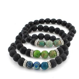 clay bracelets 2019 - New Fashion Jewelry Natural Lava Rock Beads Charms Bracelets Charm Bracelets New Arrival Men's Women's Beads B