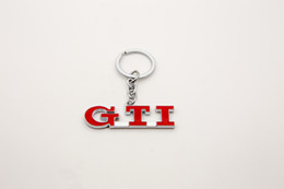 volkswagen key chain NZ - Red GTI Metal Key Chain Keychain Key Rings KeyRing Fob For VW Golf 3 Golf 5 Golf 6 GTI MK5 MK6 MK7