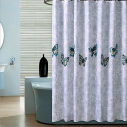 Wholesale 5 Pics Shower Bath Curtains Butterfly Logo Luxury Curtain With  Ring For Bathroom 8 Size Custom Made