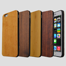 handmade wood phone cases Canada - Hot Phone Cases Handmade Wood Case For Iphone 7 8 6 6s plus X 10 5 5s Natural Bamboo Wooden TPU Mobile Cover For Samsung Galaxy S8 S9 S7