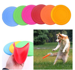 $enCountryForm.capitalKeyWord Canada - Hot 100pcs Silicone Dog Frisbee Flying Disc Tooth Resistant Soft Puppy Outdoor Pet Dog Play Foldable Training Fun Fetch Toy free shipping