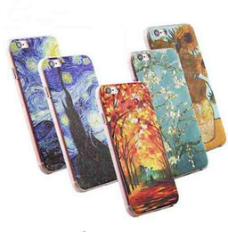 $enCountryForm.capitalKeyWord UK - 3D Painting Cell Phone Case for iPhone 4 4s 5 5s 6 6s 7 Plus Case Van Gogh Starry Night Phone Case Fone