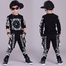 $enCountryForm.capitalKeyWord Canada - Big Boys Sports Suits Cotton Clothing Sets Boys Tracksuits printing Hip Pop Outfits Teenage Kids Sportswear 4 6 8 10 12 14 years