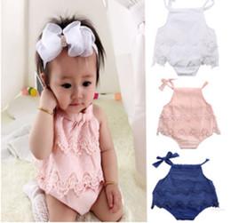 Body Tutu Australia - 3Colors INS Newborn Infant Baby Girls Lace Bodysuit Romper Cute Bebes Body Clothes Jumpsuit Outfit Sunsuit Flower Clothes 0-18M XT