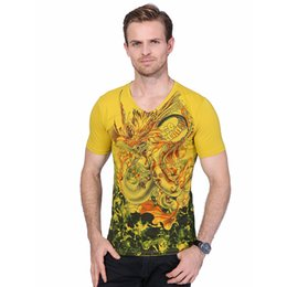 $enCountryForm.capitalKeyWord Canada - New Summer Men's Short Sleeve T Shirt Chinese Style Dragon Print Mens T Shirt High Quality Mens Casual Cotton Top Tee Shirt YH-019