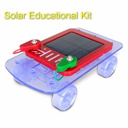 wholesale smart electronic kit for kids solar car toy ec block electronic building block gift for child gadget free shipping metal building kits for kids