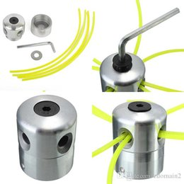 Lawn Trimmers Canada - Universal Aluminum Line Bump Cutting Trimmer Head Bobbin Parts Sets Brushcutters Replacement Lawn Mower Cutter Accessories