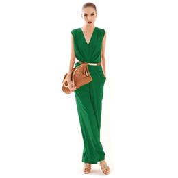 $enCountryForm.capitalKeyWord UK - Wholesale- 2017 Hot Sales Fashion Women OL Deep V Neck Sleeveless Cocktail Party Jumpsuit Romper 1PC Jumpsuit A0000