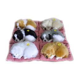 China Simulation Animal Stuffed Plush Cute Sleeping Dogs Toy with Sound Kids Stuffed Toy Simulation Dogs OOA3662 cheap plush kids suppliers