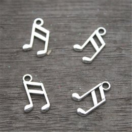 Chinese  60pcs-- Music note Charms, Antique Tibetan Silver Tone Treble Clef charm pendants, musical charm 8x14mm manufacturers