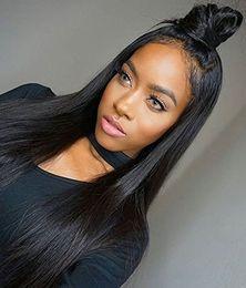 $enCountryForm.capitalKeyWord NZ - 360 lace frontal wig silky straight Human Hair Wigs For Black Women 150% Density Medium Cap Brazilian Remy Straight Hair Ponytail