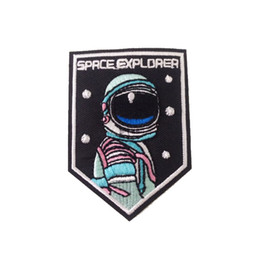 Wholesale garment apparel clothes resale online - Patch Clothes Stickers Garment Apparel Accessories For SPACE EXPLORER Badge Iron On Patches Embroidered Applique Sewing
