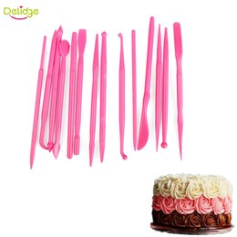 $enCountryForm.capitalKeyWord NZ - Delidge 14 pcs  Set Cake Decoration Pens Plastic Sugar Fondant Flower Maker Pen Baking Flowers Modelling Craft Clays Tool