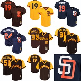 ... Alternate Cool Base MLB Jersey (Youth Mens San Diego Padres Throwback  Jersey 19 Tony Gwynn 24 Rickey Henderson 31 34 Majestic Authentic ... 98625e538