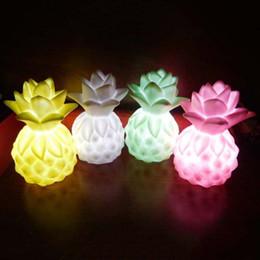 $enCountryForm.capitalKeyWord Canada - Wholesale- Kids Light-up Toys Mini LED Pineapple Night Light Kids Nursery Lamp LED Night Light Kids Children Bedside Lamp Toy