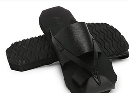$enCountryForm.capitalKeyWord UK - Summer new men's shoes toe Y3 black warrior beach drag sandals casual Korean version of the male shoes leather drag