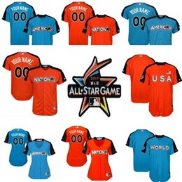 d47b13116 ... 2017 All-Star Game Personalized Mens Womens Kids National League  American League World USA cool Mens American League Majestic Gold 2016 MLB  ...
