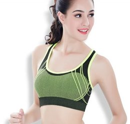 b57e505693 New women shockproof sports breathable bra without rims female running yoga  quick-drying vest underwear no63