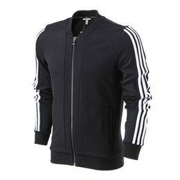 Pull De Baseball Occasionnel Pas Cher-2017 hommes superstar piste 3-STRIPES Neo veste de baseball décontracté à manches longues Cardigan chandail Sportswear sports fitness running clothes coat