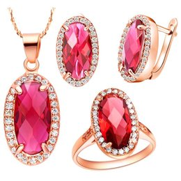 $enCountryForm.capitalKeyWord Canada - NEW set of 925 Sterling Silver suit set Austria crystal jewelry set in Europe and America fashion jewelry