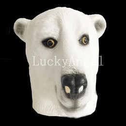 $enCountryForm.capitalKeyWord Canada - Hot Sale 2017 High Quality Dog Masks Latex White Dog Wolf Animal Mask Halloween Party Masquerade Parties Mask Decoration Supplies Props