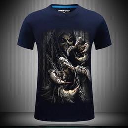 $enCountryForm.capitalKeyWord NZ - Short Sleeve mens summer tees shirt Devil Death Skeleton printing plus size fat streetwear designer t shirt print clothes 3d tshirts for men