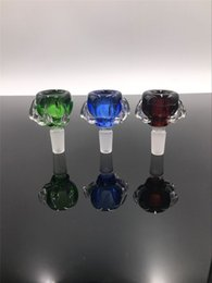 Bong Bowl Adapter Canada - Colorful Thick Dragon Claw Bowls Glass Adapter Male 14.4mm 18.8mm Adapter for Glass Bongs Glass Water Pipes