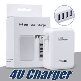 $enCountryForm.capitalKeyWord Canada - Fast Speed 4 Ports USB Wall Home Travel Charger AC Power Adapter with Folding Plug For Universal Smartphones with Retail Package
