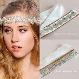 Crystal Rhinestone Wedding Headpiece   Bridal Belt Sash Shiny Bridal Tiaras & Hair Wedding Accessories Fast Shipping on Sale