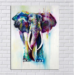 contemporary frames canvas prints Australia - Framed Modern Elephant Canvas Painting, Pure Hand Painted Contemporary abstract Wall Decor Art Oil Painting On Canvas.Multi Sizes A054