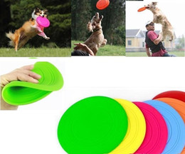 Disc Toys Canada - new arrival Silicone Dog Frisbee Flying Disc Tooth Resistant Soft Puppy Outdoor Pet Dog Play Foldable Training Fun Fetch Toy wn259