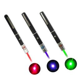 Puntatori laser 1pcs Grande luce potente Elegante 650nm rosso blu verde Laser Pointer Light Pen Lazer Beam 1mW ad alta potenza in Offerta