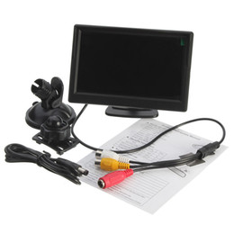 tft speakers UK - Freeshipping 5 Inch TFT-LCD Car Rear View Rearview Monitor With Stand Reverse Backup Camera Freeshipping
