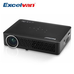 Proyector Wifi Australia - Wholesale-Excelvan DLP800WM Portable Android 4.4 WIFI Projector 1280*800 HD 400 Ansi Lumen Home Proyector With HDMI  USB VGA AV Support 3D
