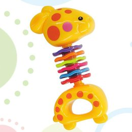 $enCountryForm.capitalKeyWord Australia - Infant Giraffe Rattle Bell Hand Toy Training Toddler Baby Teether Toy soothe posterior teeth 360 degrees