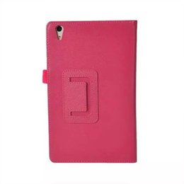 Tablet Pc Folio Case UK - Two Folio Protective PU Leather Cover with Stand Case Litchi for Huawei Honor 2 JDN-AL00   JDN-W09 8 inch Tablet PC + Stylus Pen