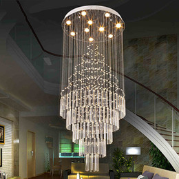 LED Pendant Light Art Design Living Room Dining Chandeliers K9 Crystal Fixtures AC110 240V Ceiling Lamps VALLKIN Lighting