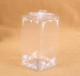 Plastic Packing Boxes Canada - PVC Gift Boxes Candy Box Wedding Lace Plastic Favor Holders Clear Wedding Supplies Packing Boxes Korean