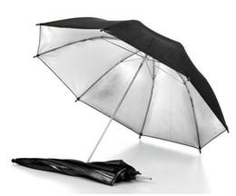 New Portable 83cm 33 inch Studio Video Flash Light Umbrella Reflective Reflector Black Sliver Photo Photography Umbrellas on Sale